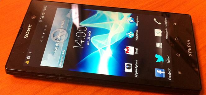 Prise en main du Sony Xperia Ion