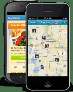 foursquare - mobiles